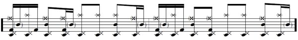 Single Double Bass Sheet Music #9